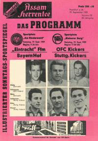 Program booklet Eintracht Frankfurt