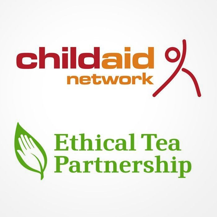 Childaid Networkd logo and Ethical Tea Partnership